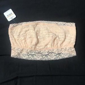 Free people soft pink lace bandeau